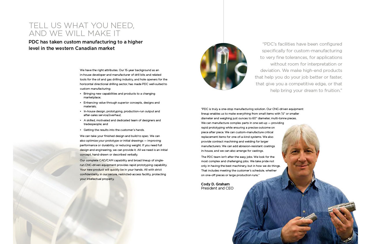 PDC Manufacturing Brochure